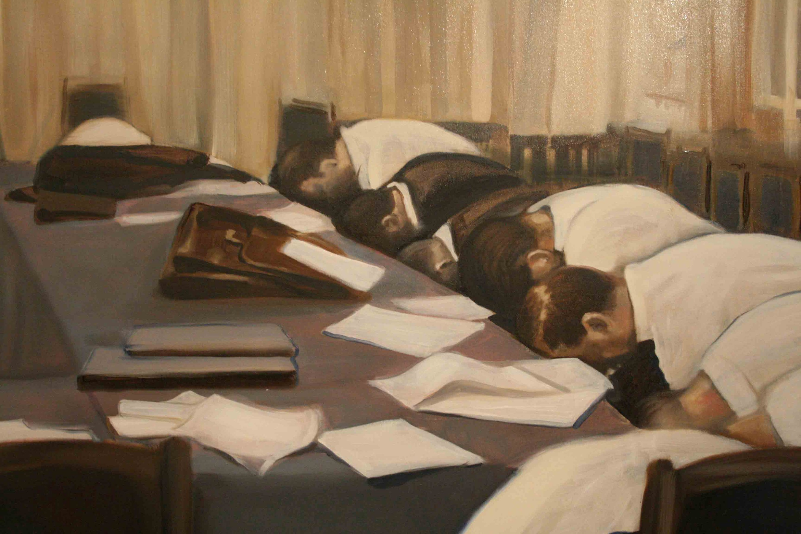 The Sleepers, 2011 oil on canvas 350 × 165 cm;