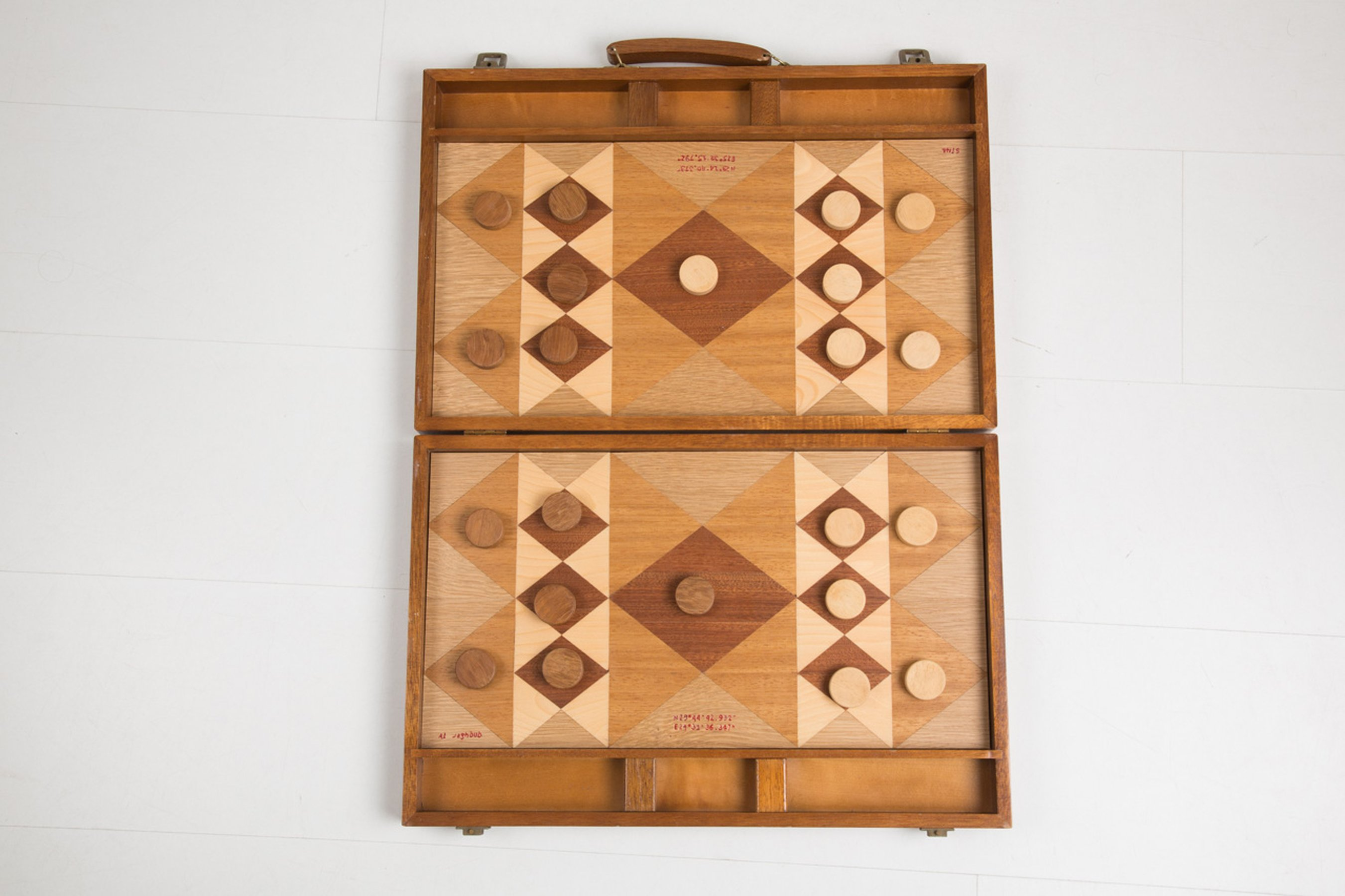 La montagna verde, 2011 Marquetry on wood 60 × 45 × 4 cm;
