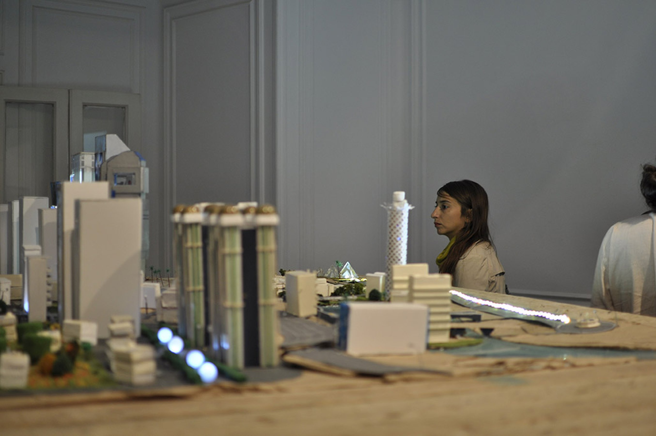 White Paper: the land, 2014 architectural model and video 175 × 265 × 125 cm; installation view at Casco, Beirut, 2014
