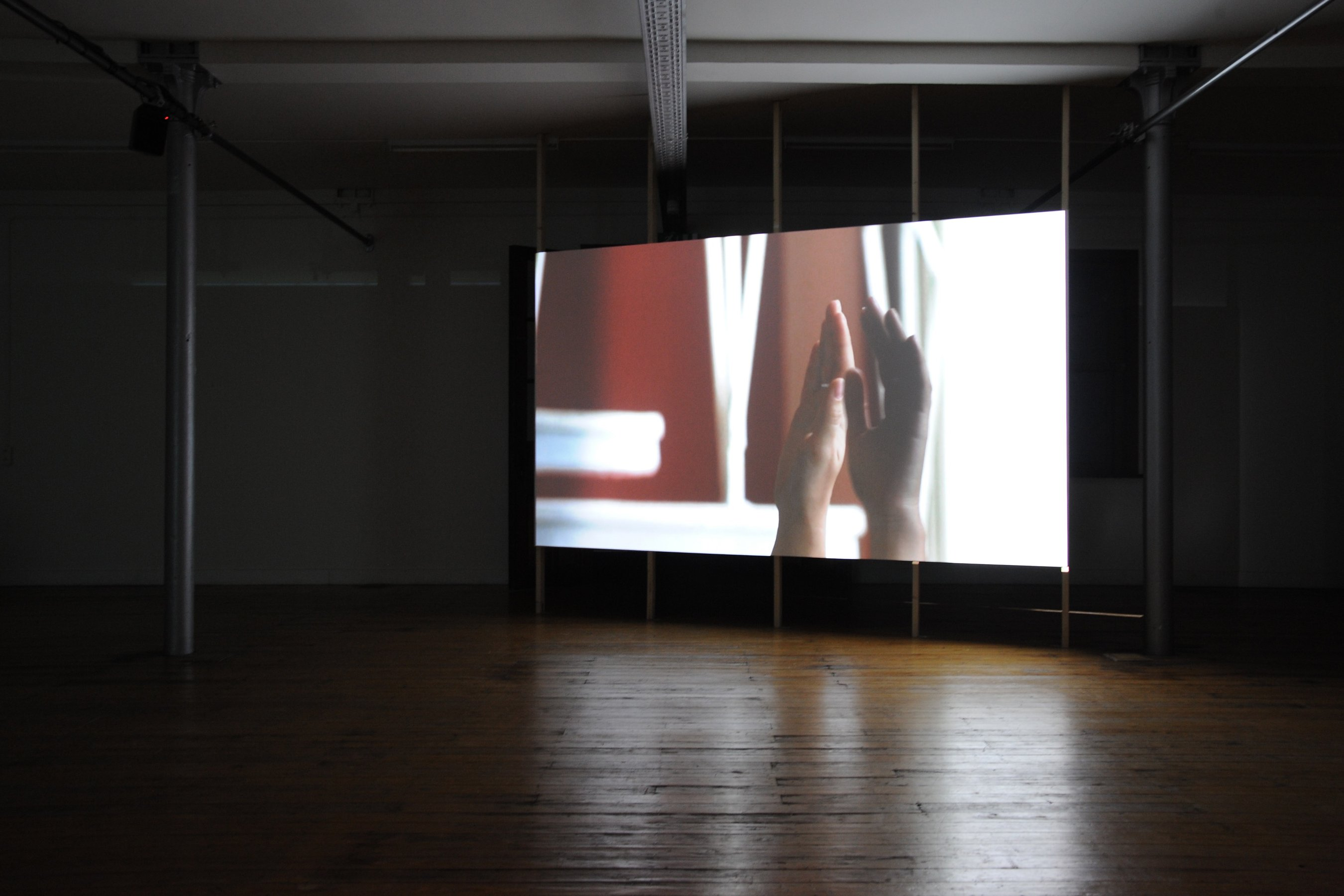 I'm Lost Without Your Rhythm, 2009, HD, 13'29'', loop, installation view, Playground, Stuk, Leuven, ph. by Liesbeth Bernaerts