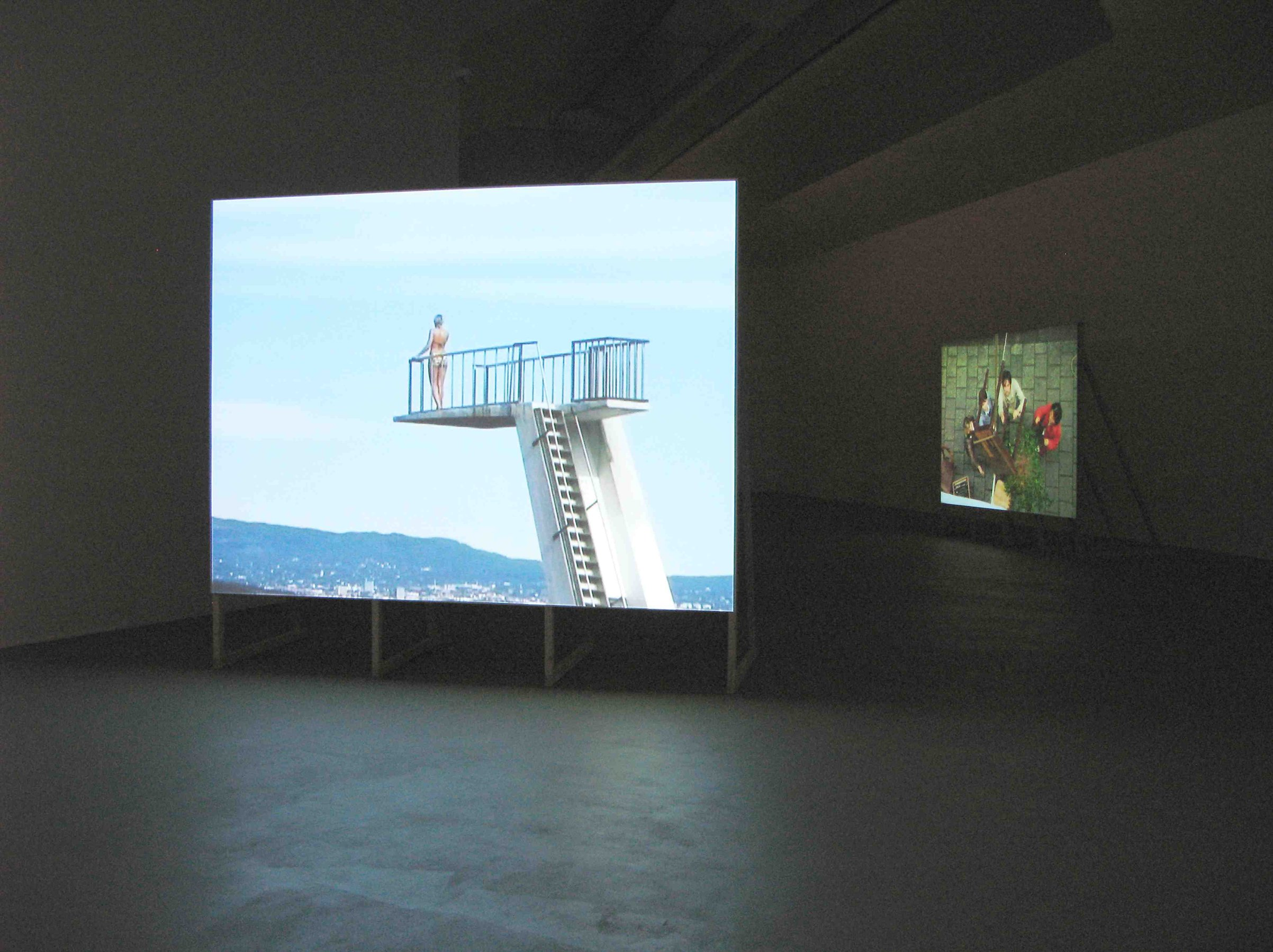 Where She is at, 2001, DV, 07'35'', loop, installation view, Museum für Gegenwartskunst, Basel, 2007