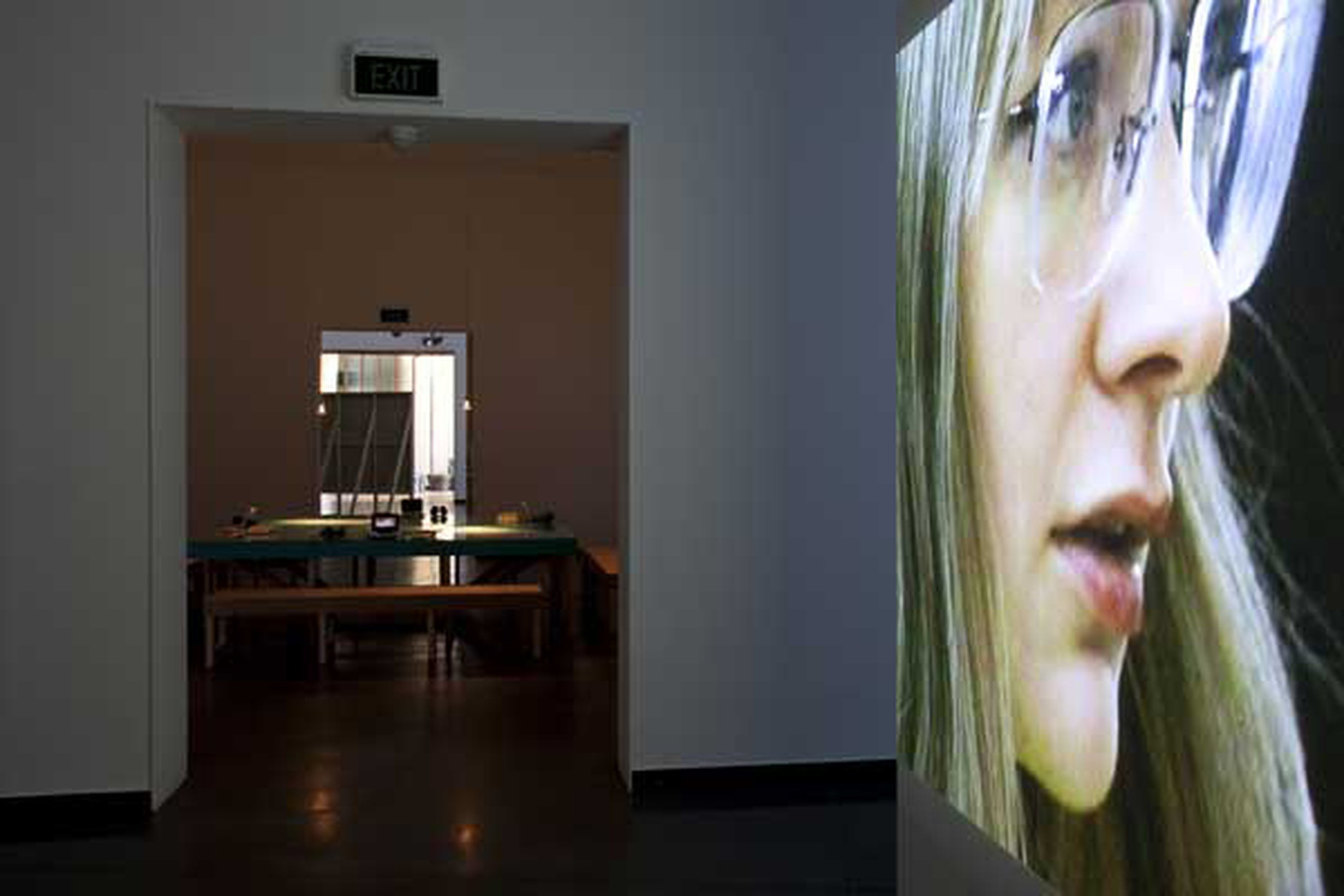 "Project for a revolution, 2000 DV - 3'14"" loop, installation view, Acca, Melbourne, 2010"