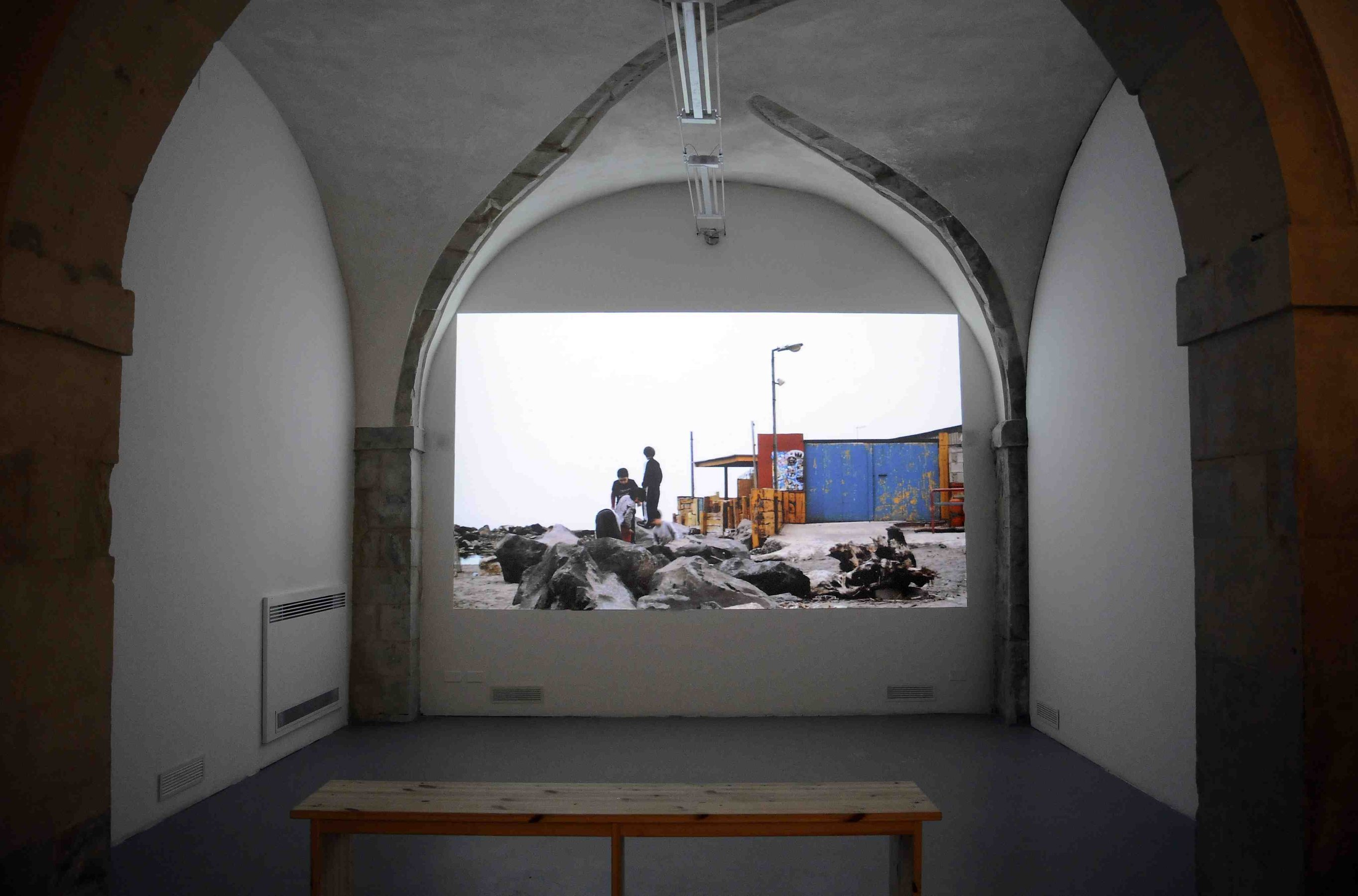 I'm Gonna Live Anyhow Until I die, paintings, 2012, installation view, Laveronica, Modica, Sicily