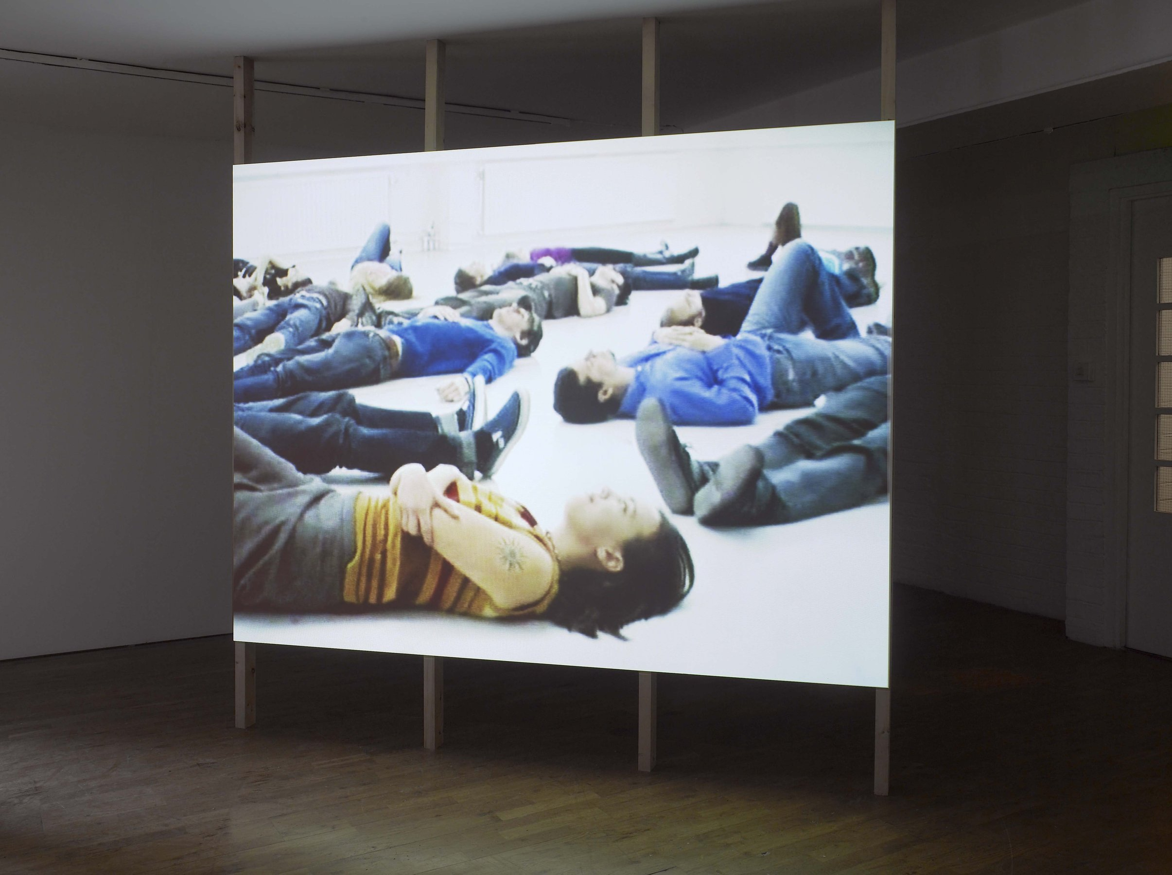 Missing Out, 2001, DV, 04'14'', loop, installation view, Modern Art Oxford, 2010