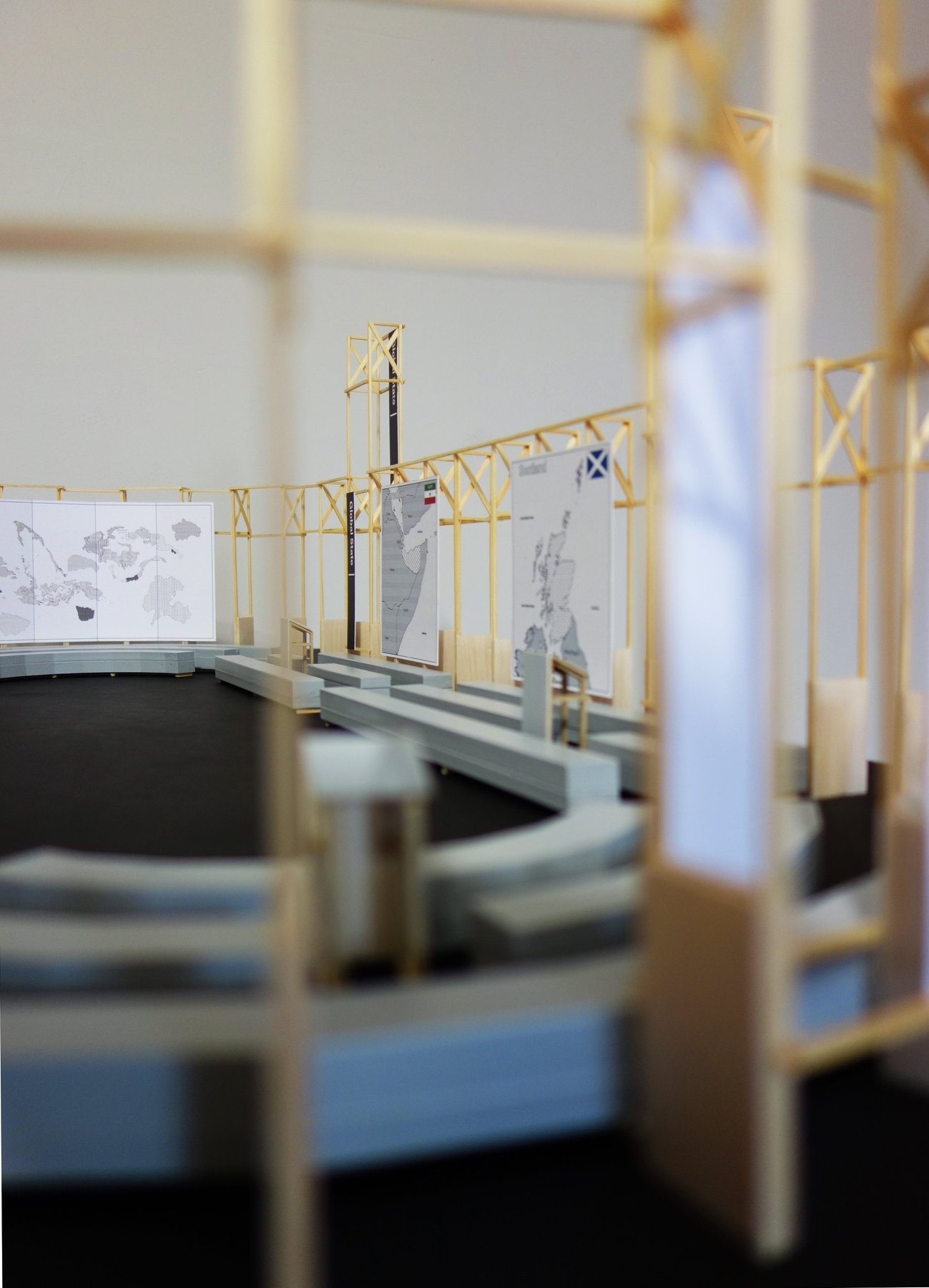 New World Summit - Brussels (architectural model), 2014 Maquette, plexiglass, wooden structure 1350 × 900 × 1330 cm;