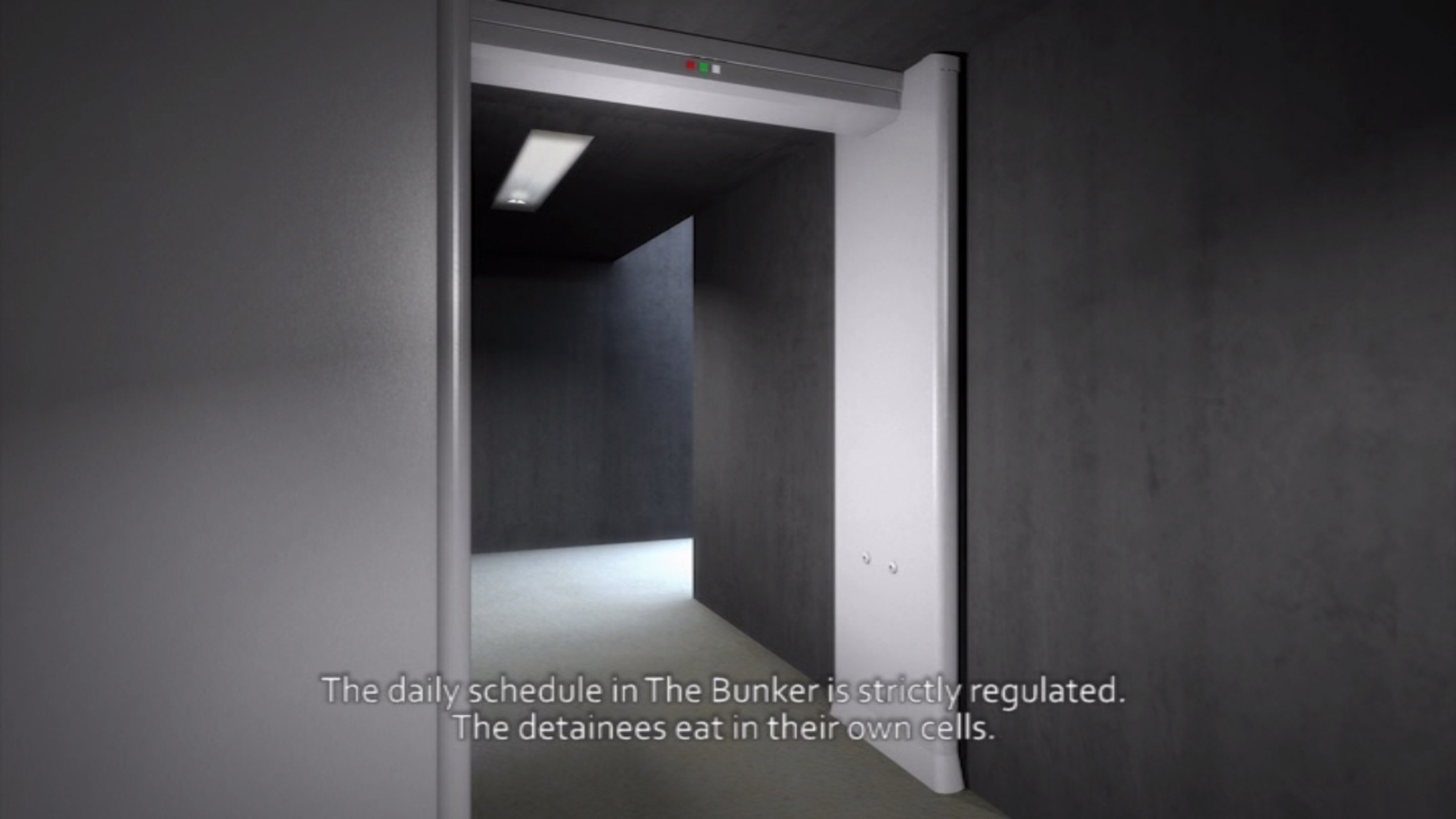 Closed Architecture / The Bunker–The Habituation–The Wait–The Light, 2011 HD video, colour and sound - 15'32''