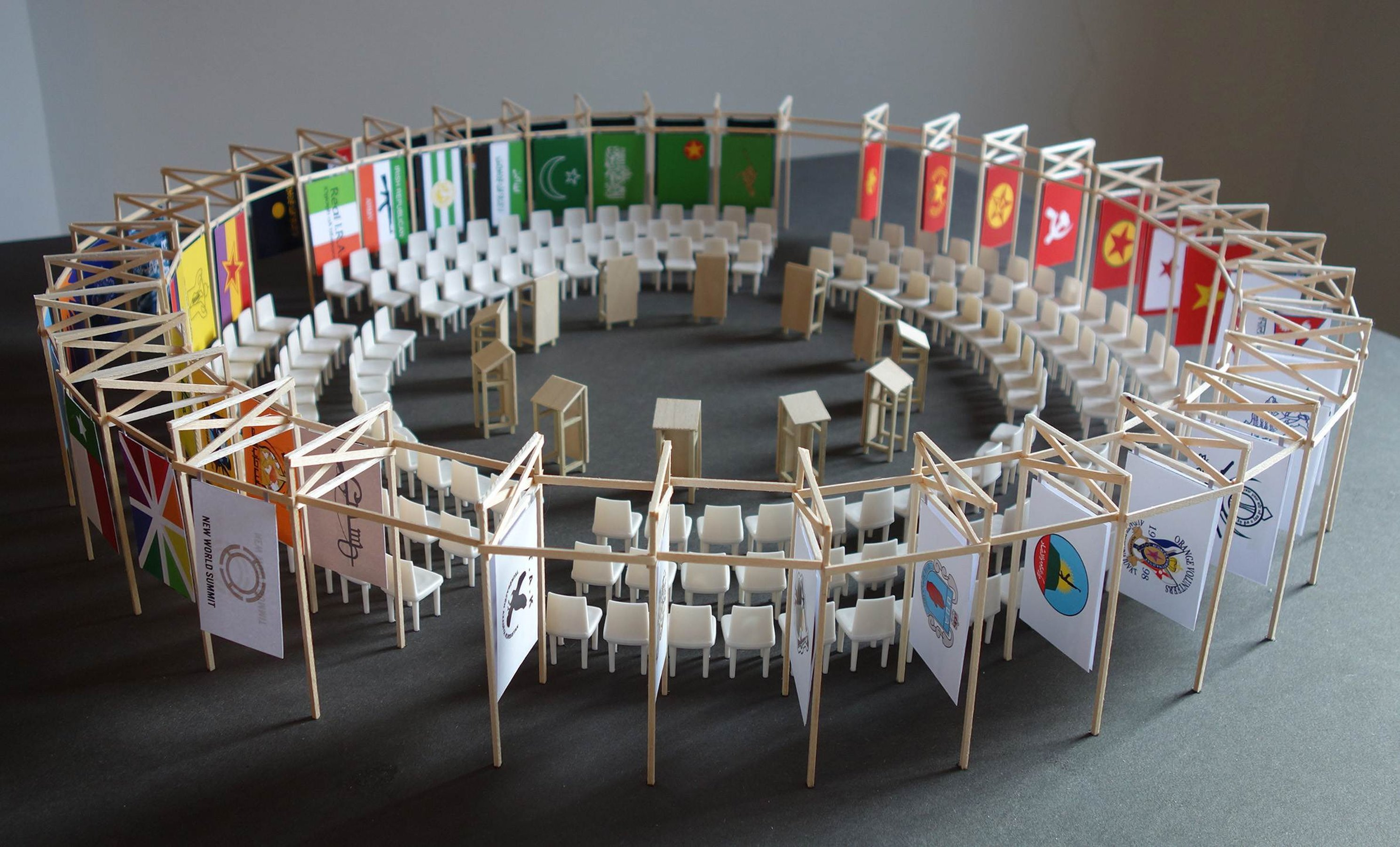 New World Summit \u002D Berlin (architectural model)
