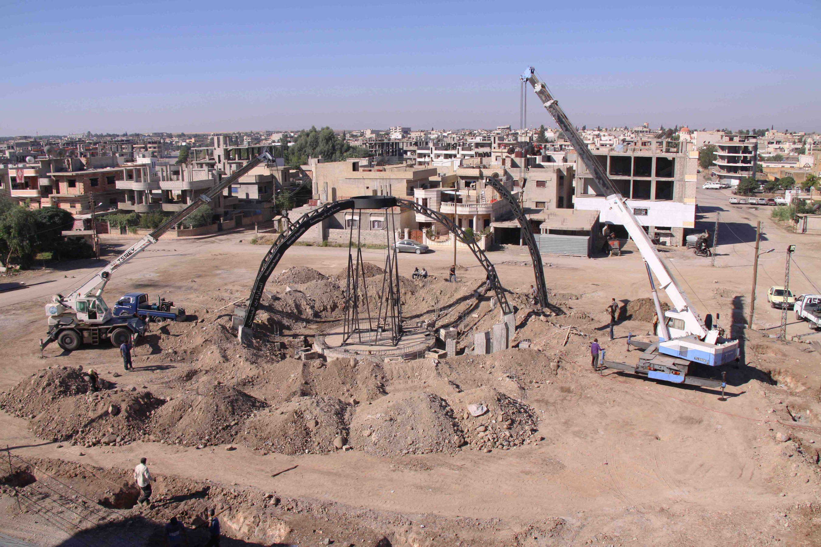 New World Summit, 2015/2016 (developed in collaboration with the Democratic Self-Administration of Rojava) - Construction of a public parliament