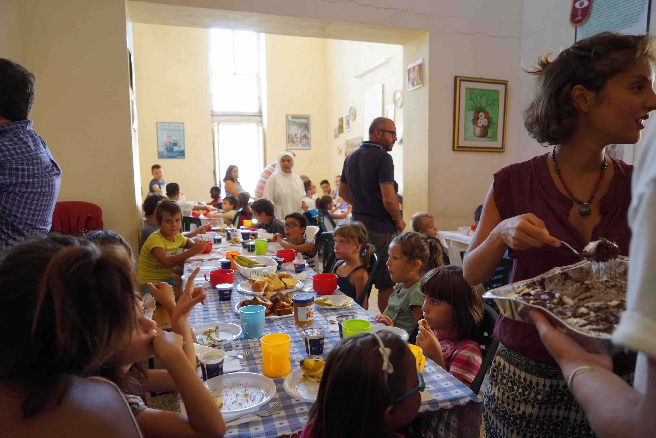 Free breakfast program, Convento del Rosario, Scicli